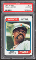 Baseball Cards:Singles (1970-Now), 1974 Topps Willie Horton #115 PSA Gem Mint 10....