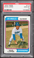 Baseball Cards:Singles (1970-Now), 1974 Topps Dave Lopes #112 PSA Gem Mint 10....