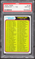 Baseball Cards:Singles (1970-Now), 1974 Topps Checklist 1-132 #126 PSA Gem Mint 10 - Pop One....
