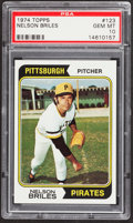 Baseball Cards:Singles (1970-Now), 1974 Topps Nelson Briles #123 PSA Gem Mint 10 - Pop Four....