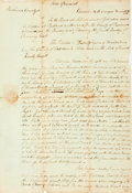 Autographs:Statesmen, State of Vermont Petition for Divorce Dated November 25, 1799. ...