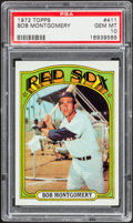 Baseball Cards:Singles (1970-Now), 1972 Topps Bob Montgomery #411 PSA Gem Mint 10 - Pop Three....