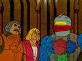 Animation Art:Production Cel, He-Man and the Masters of the Universe Man-at-Arms andRoboto Production Cel Setup and Animation Drawing Group (Filmat...(Total: 7 Items)
