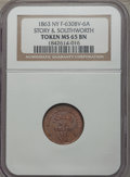 Civil War Merchants, 1863 Story & Southworth, New York, New York, MS65 Brown NGC.Fuld-NY630BV-6a....