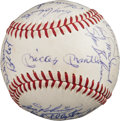 Baseball Collectibles:Balls, 1968 New York Yankees Team Signed Baseball, PSA/DNA NM+ 7.5....