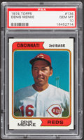 Baseball Cards:Singles (1970-Now), 1974 Topps Denis Menke #134 PSA Gem Mint 10....