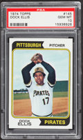 Baseball Cards:Singles (1970-Now), 1974 Topps Dock Ellis #145 PSA Gem Mint 10 - Pop Three....