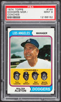 Baseball Cards:Singles (1970-Now), 1974 Topps Dodgers Mgr./Coaches #144 PSA Mint 9....