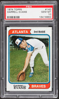 Baseball Cards:Singles (1970-Now), 1974 Topps Darrell Evans #140 PSA Gem Mint 10....