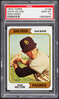 Baseball Cards:Singles (1970-Now), 1974 Topps Dave Hilton #148 PSA Gem Mint 10....