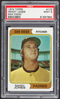Baseball Cards:Singles (1970-Now), 1974 Topps Randy Jones #173 PSA Mint 9....