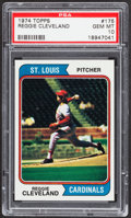 Baseball Cards:Singles (1970-Now), 1974 Topps Reggie Cleveland #175 PSA Gem Mint 10....