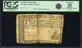 Colonial Notes:Georgia, Province of Georgia 1762 10 Shillings Ship Fr. GA-41b. PCGS VeryFine 20 Apparent.. ...