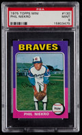 Baseball Cards:Singles (1970-Now), 1975 Topps Mini Phil Niekro #130 PSA Mint 9....