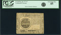 Colonial Notes:Continental Congress Issues, Continental Currency May 20, 1777 $7 Fr. CC-68. PCGS Extremely Fine45.. ...