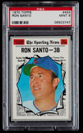 Baseball Cards:Singles (1970-Now), 1970 Topps Ron Santo AS #454 PSA Mint 9....