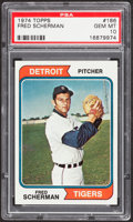 Baseball Cards:Singles (1970-Now), 1974 Topps Fred Scherman #186 PSA Gem Mint 10 - Pop Three....