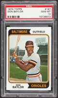 Baseball Cards:Singles (1970-Now), 1974 Topps Don Baylor #187 PSA Gem Mint 10 - Pop Two....