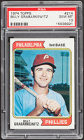 Baseball Cards:Singles (1970-Now), 1974 Topps Billy Grabarkewitz #214 PSA Gem Mint 10 - Pop Four....