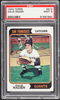 Baseball Cards:Singles (1970-Now), 1974 Topps Dave Rader #213 PSA Mint 9....
