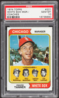 Baseball Cards:Singles (1970-Now), 1974 Topps White Sox Mgr./Coaches #221 PSA Gem Mint 10 - PopThree....