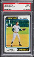 Baseball Cards:Singles (1970-Now), 1974 Topps Graig Nettles #251 PSA Mint 9....
