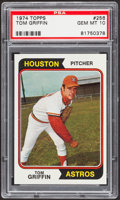 Baseball Cards:Singles (1970-Now), 1974 Topps Tom Griffin #256 PSA Gem Mint 10....