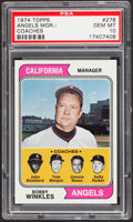 Baseball Cards:Singles (1970-Now), 1974 Topps Angels Mgr./Coaches #276 PSA Gem Mint 10....