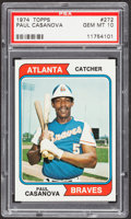 Baseball Cards:Singles (1970-Now), 1974 Topps Paul Casanova #272 PSA Gem Mint 10 - Pop One....