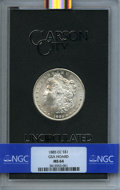 1885-CC $1 GSA MS64 NGC. Box and COA included. NGC Census: (3159/1672). PCGS Population (54/45). Mintage: 228,000....(PC...