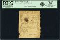 Colonial Notes:Massachusetts, Massachusetts Bay August 18, 1775 40 Shillings Fr. MA-173. PCGSVery Fine 20 Apparent.. ...