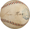 Baseball Collectibles:Balls, 1930's Jimmie Foxx Signed Baseball....