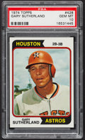 Baseball Cards:Singles (1970-Now), 1974 Topps Gary Sutherland #428 PSA Gem Mint 10 - Pop Three....
