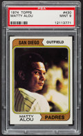 Baseball Cards:Singles (1970-Now), 1974 Topps Matty Alou #430 PSA Mint 9....