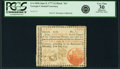 "Colonial Notes:Georgia, Georgia June 8, 1777 $2 Black ""In"" Fr. GA-104b. PCGS Very Fine 30Apparent.. ..."