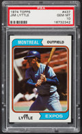 Baseball Cards:Singles (1970-Now), 1974 Topps Jim Lyttle #437 PSA Gem Mint 10 - Pop Four....