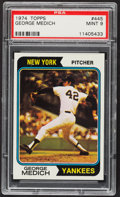 Baseball Cards:Singles (1970-Now), 1974 Topps George Medich #445 PSA Mint 9....