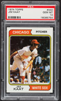 Baseball Cards:Singles (1970-Now), 1974 Topps Jim Kaat #440 PSA Gem Mint 10 - Pop Two....