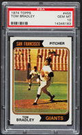 Baseball Cards:Singles (1970-Now), 1974 Topps Tom Bradley #455 PSA Gem Mint 10 - Pop One. ...