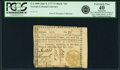 "Colonial Notes:Georgia, Georgia June 8, 1777 $7 Black ""In"" Fr. GA-109b. PCGS Extremely Fine40 Apparent.. ..."