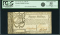 Colonial Notes:Georgia, State of Georgia Oct. 16, 1786 20 Shillings Fr. GA-131. PCGS ChoiceAbout New 55 Apparent.. ...