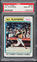 Baseball Cards:Singles (1970-Now), 1974 Topps A.L. Playoffs Reggie Jackson #470 PSA Gem Mint 10....