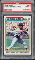 Baseball Cards:Singles (1970-Now), 1974 Topps World Series Game 2 Willie Mays #473 PSA Mint 9....