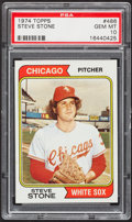 Baseball Cards:Singles (1970-Now), 1974 Topps Steve Stone #486 PSA Gem Mint 10....