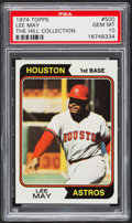 Baseball Cards:Singles (1970-Now), 1974 Topps Lee May #500 PSA Gem Mint 10 - Pop One. ...