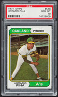 Baseball Cards:Singles (1970-Now), 1974 Topps Horacio Pina #516 PSA Gem Mint 10....