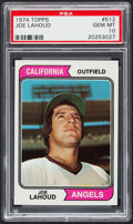 Baseball Cards:Singles (1970-Now), 1974 Topps Joe Lahoud #512 PSA Gem Mint 10 - Pop Two. ...