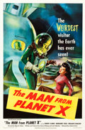 "Movie Posters:Science Fiction, The Man from Planet X (United Artists, 1951). One Sheet (27"" X41"").. ..."