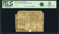 Colonial Notes:North Carolina, North Carolina May 4, 1758 20 Shillings Fr. NC-96. PCGS Fine 15 Apparent.. ...