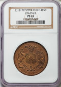 Chile, Chile: Republic brass Proof Pattern 8 Escudos  ND (ca. 1835)PR63 NGC,...